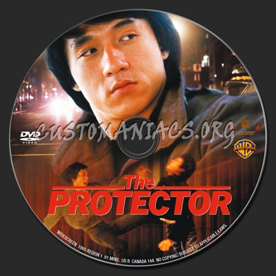 The Protector dvd label