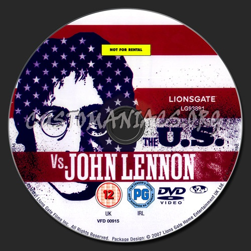 The U.S. vs John Lennon dvd label