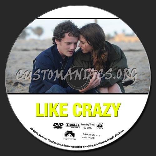 Like Crazy dvd label