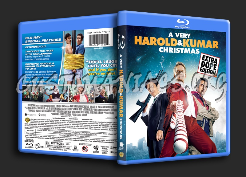 A Very Harold & Kumar Christmas blu-ray cover