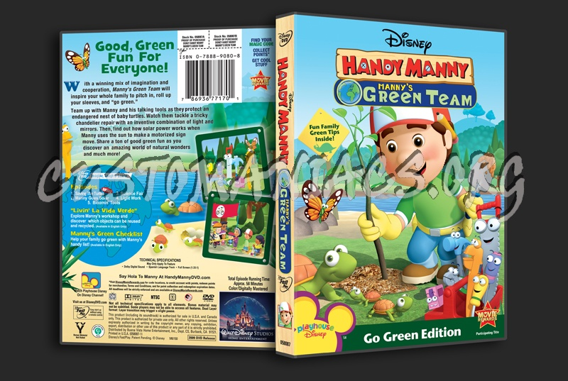 handy manny mannys green team dvd cover dvd covers