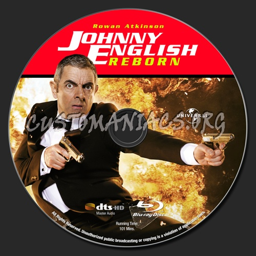 Johnny English Reborn blu-ray label