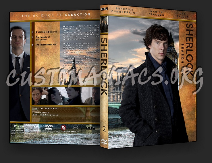 Sherlock Season 2 dvd cover - DVD Covers & Labels by