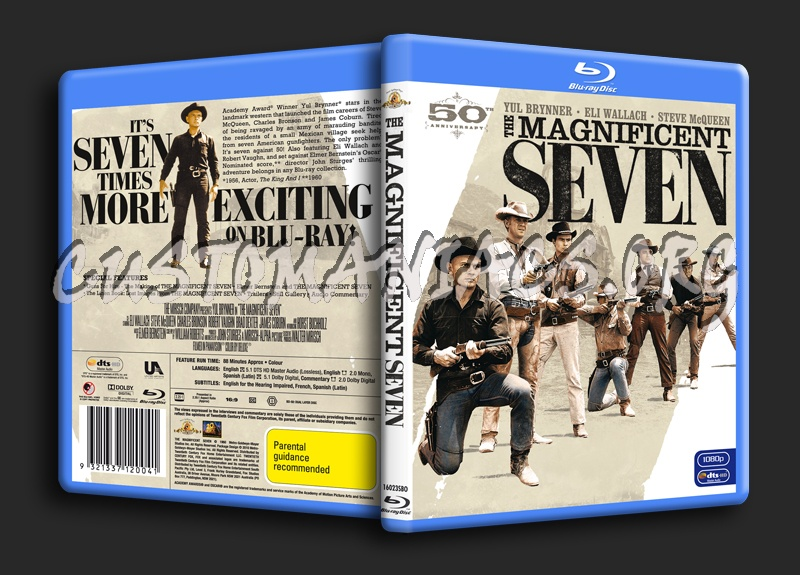 The Magnificent Seven blu-ray cover