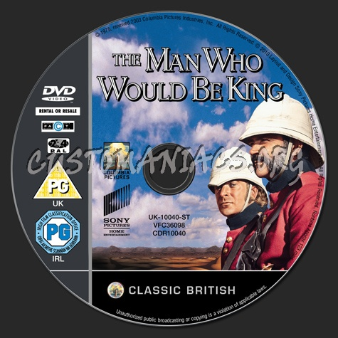 The Man Who Would Be King dvd label