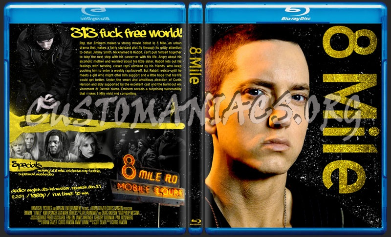 8 Mile blu-ray cover