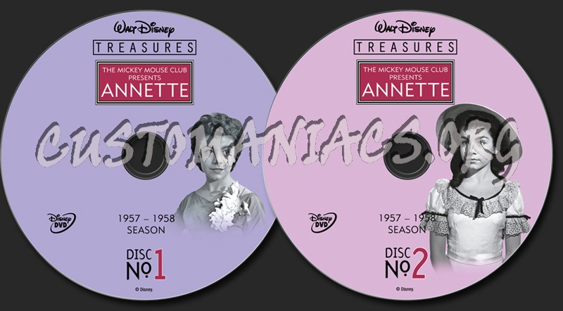 The Mickey Mouse Club Presents Annette dvd label