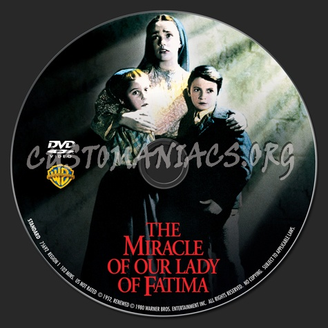 The Miracle of Our Lady Fatima dvd label