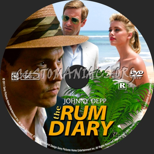 The Rum Diary ( 2011) dvd label