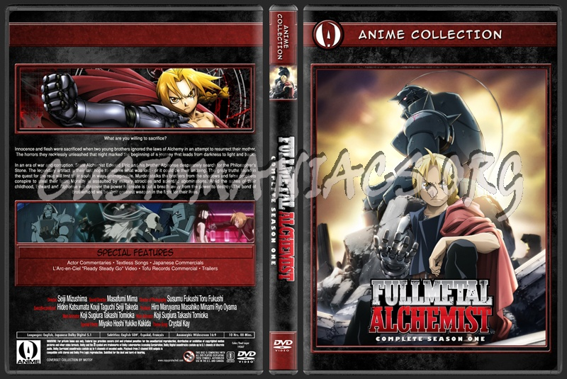 Anime Collection Full Metal Alchemist Season 1 dvd cover