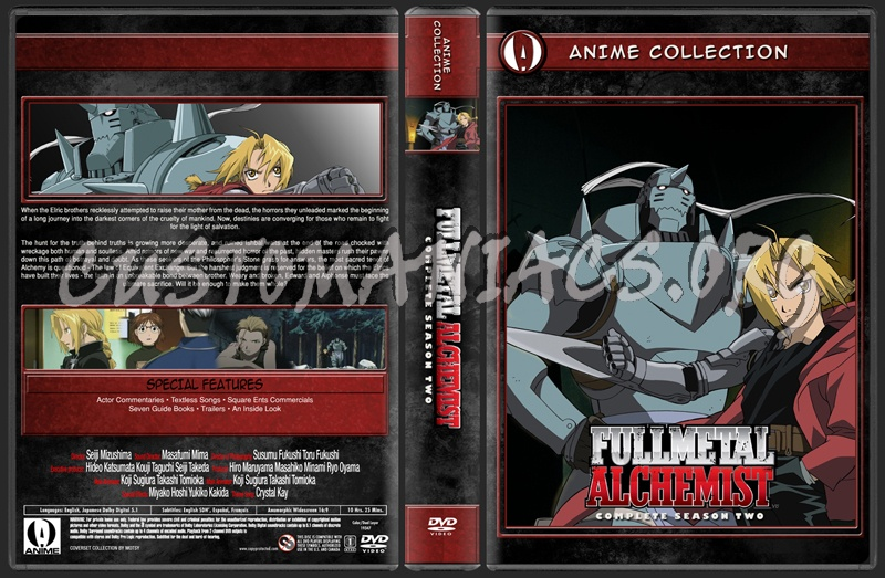 Anime Collection Full Metal Alchemist Season 2 dvd cover