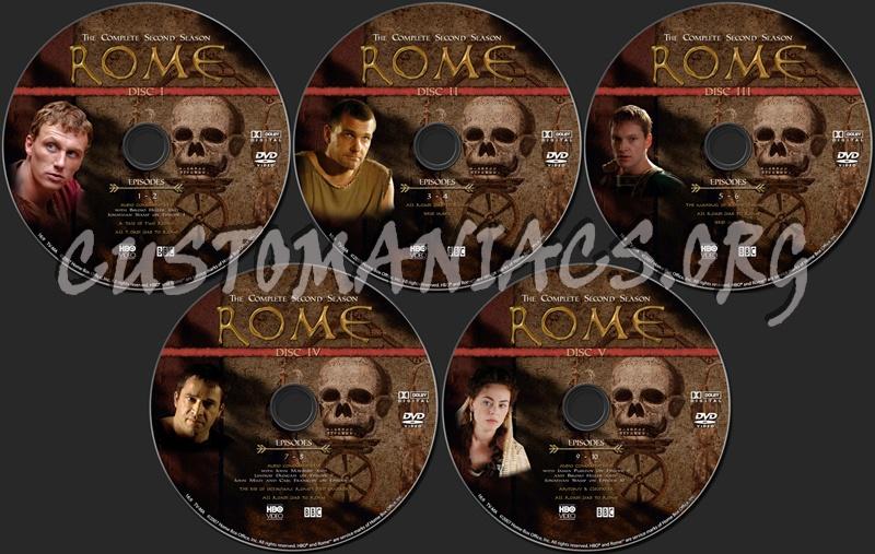 Rome Season 2 dvd label