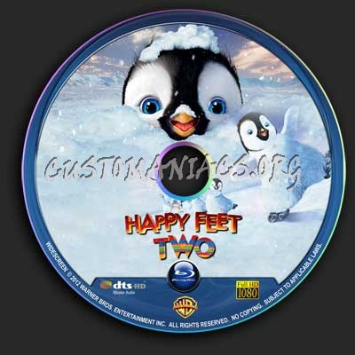 Happy Feet 2 blu-ray label