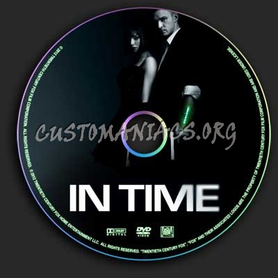 In Time dvd label