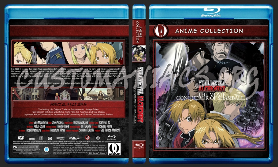 Anime Collection Full Metal Alchemist The Movie Conqueror Of Shamballa blu-ray cover