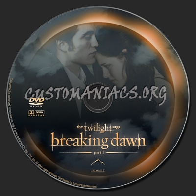 The Twilight Saga: Breaking Dawn - Part 1 dvd label