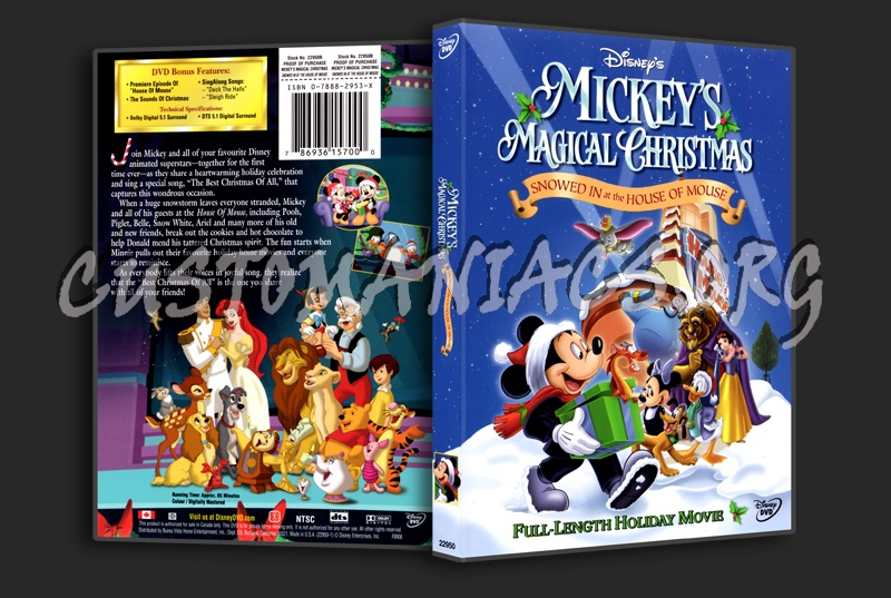 mickeys magical christmas snowed in at the house of mouse dvd cover - Mickey Magical Christmas