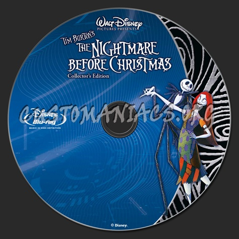 The Nightmare Before Christmas blu-ray label