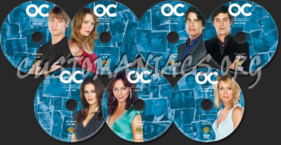 The O.C. Season 2 dvd label