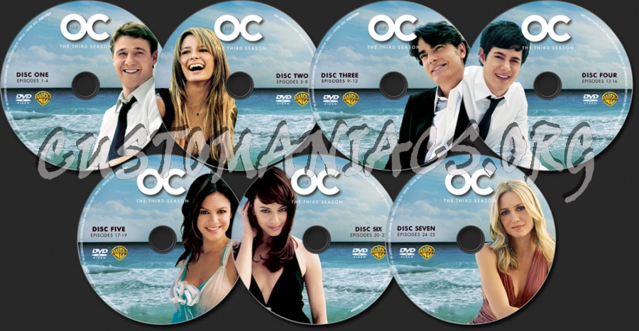 The O.C. Season 3 dvd label