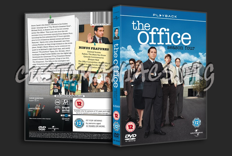 The Office US Season 4 dvd cover - DVD Covers & Labels by