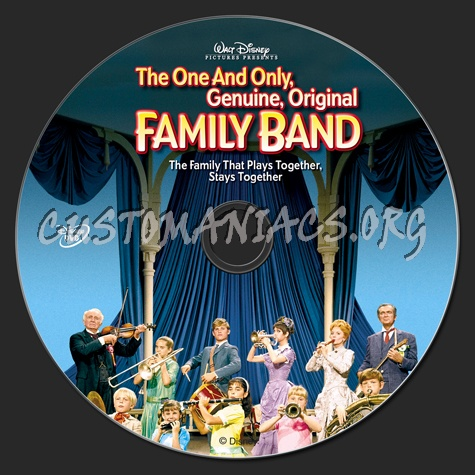 The One and Only, Genuine, Original Family Band dvd label