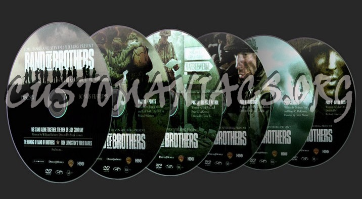 Band of Brothers dvd label