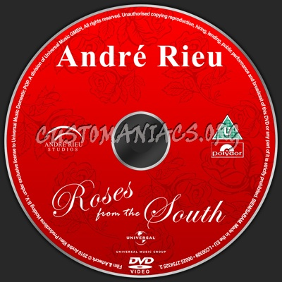 andre rieu roses from the south dvd label dvd covers. Black Bedroom Furniture Sets. Home Design Ideas