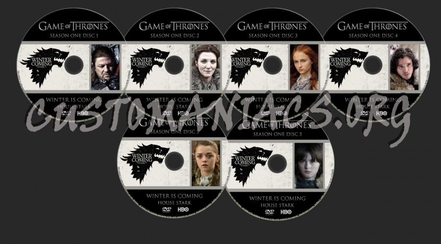 Game Of Thrones Season 1 dvd label