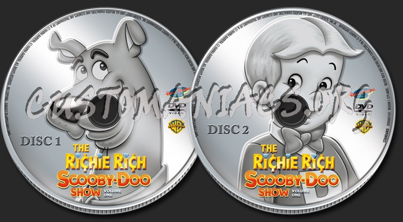 The Richie Rich Scooby-Doo Show Volume 1 dvd label