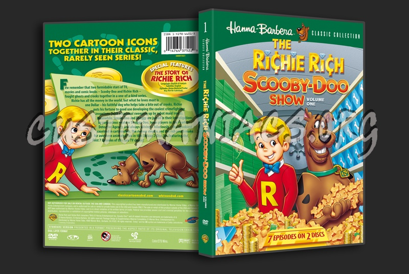 The Richie Rich Scooby-Doo Show Volume 1 dvd cover