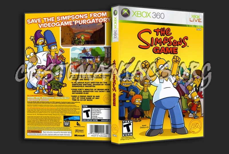 The Simpsons Game Dvd Cover Dvd Covers Labels By Customaniacs Id 28770 Free Download Highres Dvd Cover