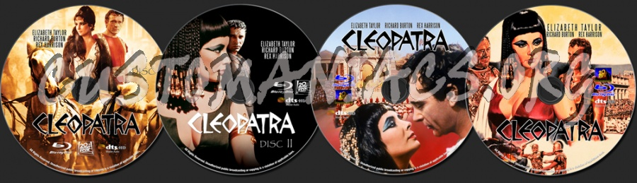 Cleopatra (1963) blu-ray label