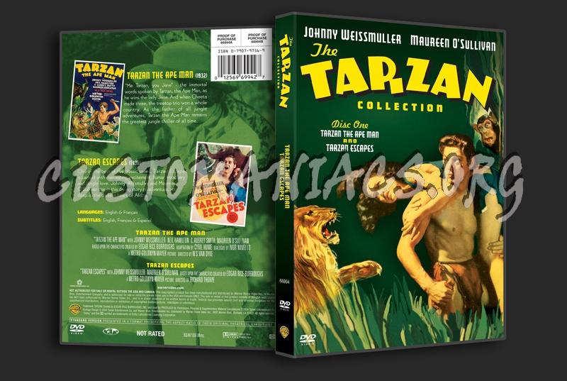 The Tarzan Collection: Tarzan the Ape Man & Tarzan Escapes dvd cover
