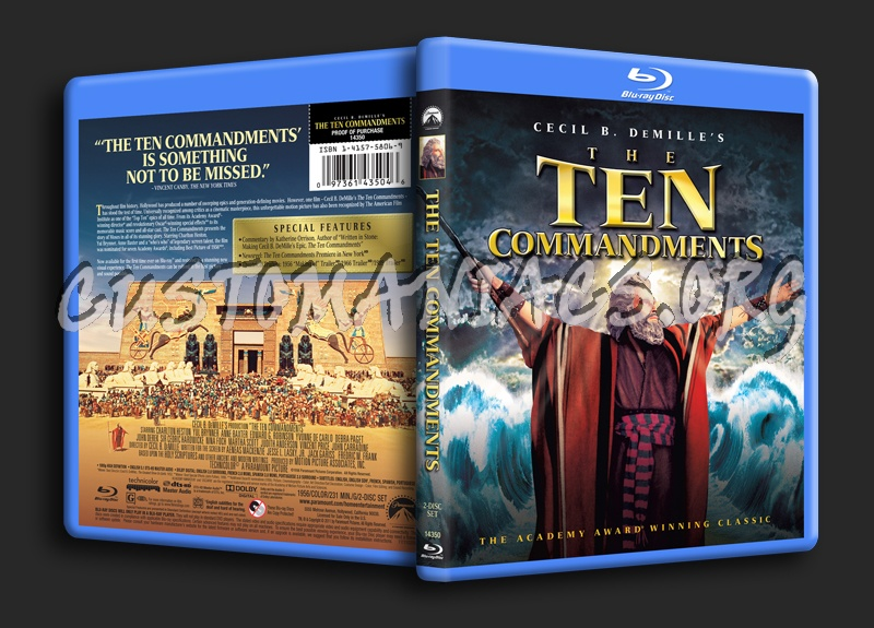 The Ten Commandments blu-ray cover