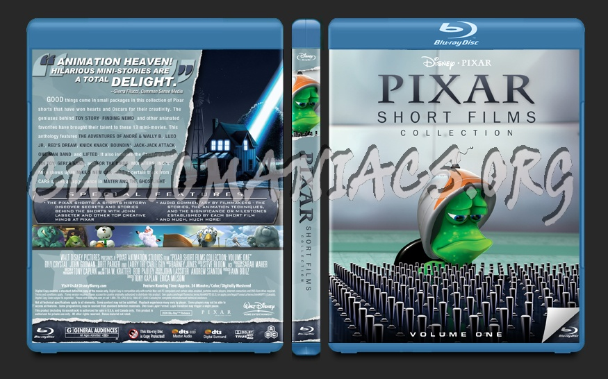 Pixar Short Films Collection blu-ray cover