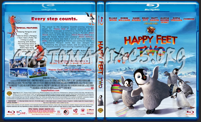 Happy Feet 2 blu-ray cover