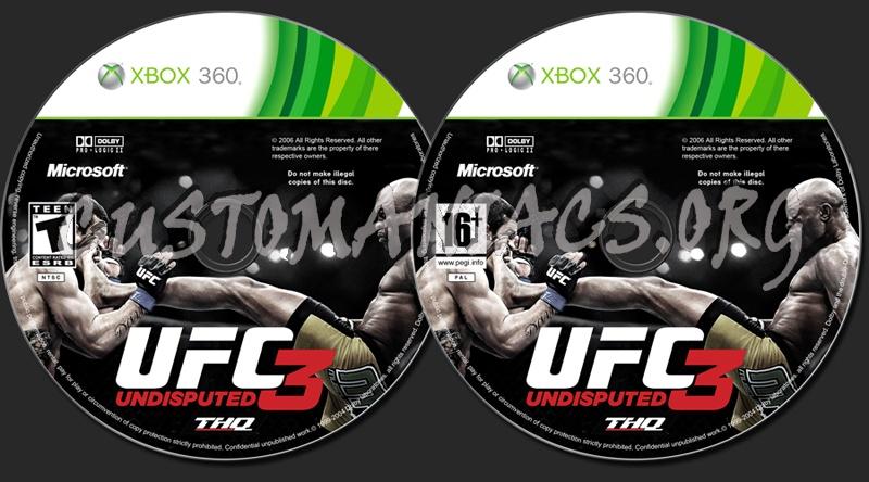 UFC 3 Undisputed dvd label