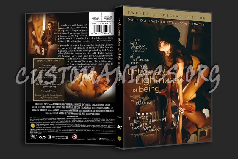The Unbearable Lightness Of Being Dvd Cover Dvd Covers