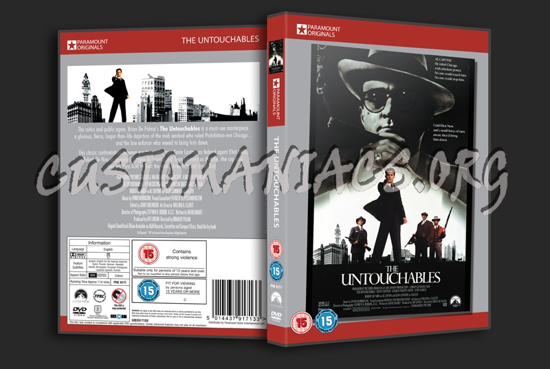 The Untouchables dvd cover