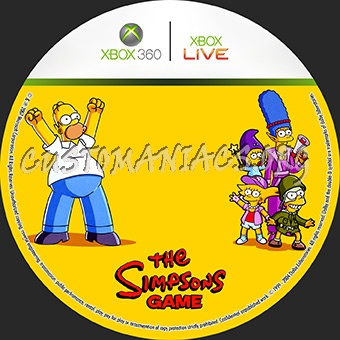 The Simpsons Game Dvd Label Dvd Covers Labels By Customaniacs Id 28837 Free Download Highres Dvd Label