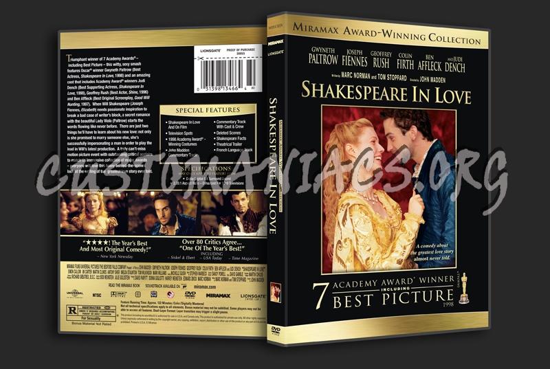 Shakespeare in Love dvd cover