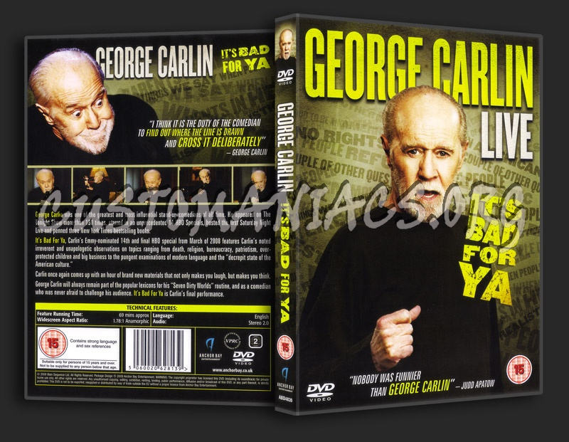 George Carlin: It's Bad for Ya! dvd cover