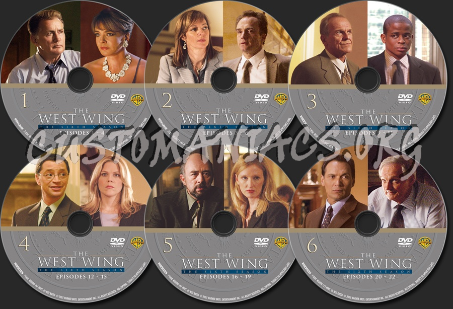 dvd covers labels by customaniacs view single post the west wing season 6. Black Bedroom Furniture Sets. Home Design Ideas