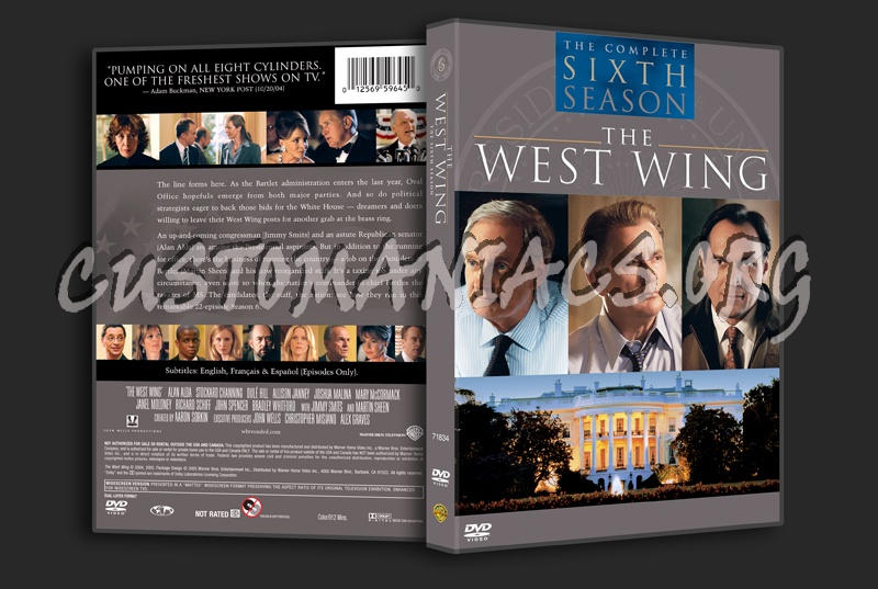 the west wing season 6 dvd cover dvd covers labels by customaniacs id 159183 free download. Black Bedroom Furniture Sets. Home Design Ideas