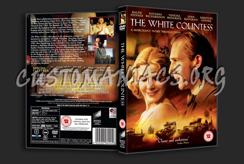 The White Countess dvd cover