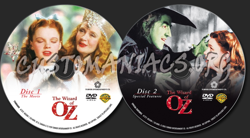 The Wizard of OZ dvd label