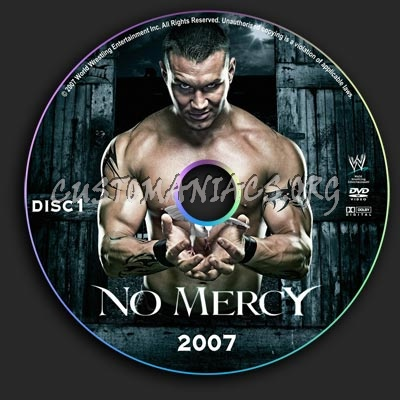 WWE - No Mercy 2007 dvd label