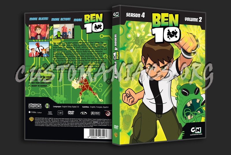 Ben 10 Season 4 Volume 2 dvd cover - DVD Covers & Labels by
