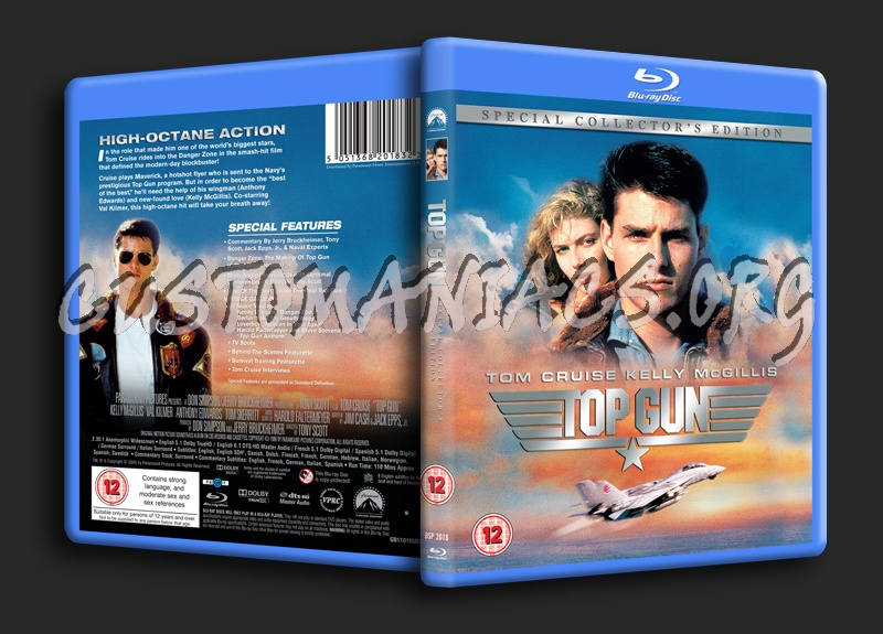 Top Gun blu-ray cover